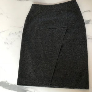 Les Copains Wool/Cashmere Grey Pencil Skirt